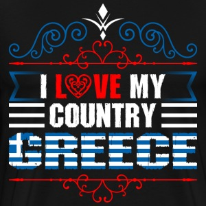 I Love My Country Greece T-Shirts - Men's Premium T-Shirt