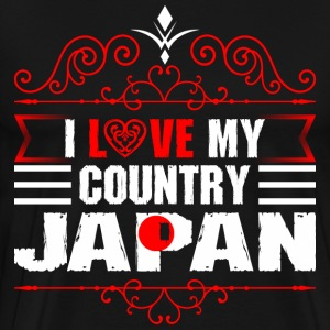 I Love My Country Japan T-Shirts - Men's Premium T-Shirt