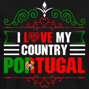 I Love My Country Portugal T-Shirts - Men's Premium T-Shirt
