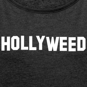 Hollyweed LA T-Shirts - Women´s Rolled Sleeve Boxy T-Shirt
