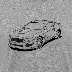 Cool car white outlines T-Shirts - Men's Premium T-Shirt