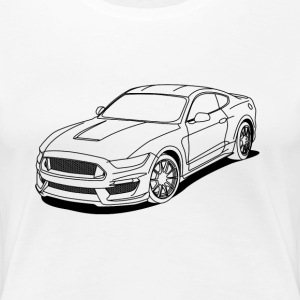 Cool car white outlines T-Shirts - Women's Premium T-Shirt