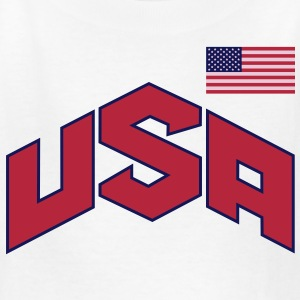 USA OLYMPIC SIGN & FLAG Kids' Shirts - Kids' T-Shirt