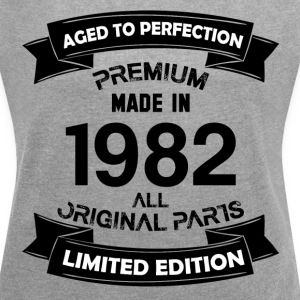 Premium Vintage 1982 T-Shirts - Women´s Rolled Sleeve Boxy T-Shirt