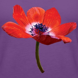 Red Poppy Closeup Tanks - Women's Premium Tank Top