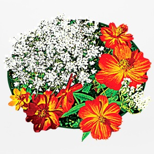 Queen Anne's Lace with Orange Flowers Other - Mouse pad Horizontal
