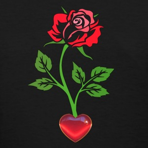 Enchanted Rose with the Heart Women's T-Shirt - Women's T-Shirt