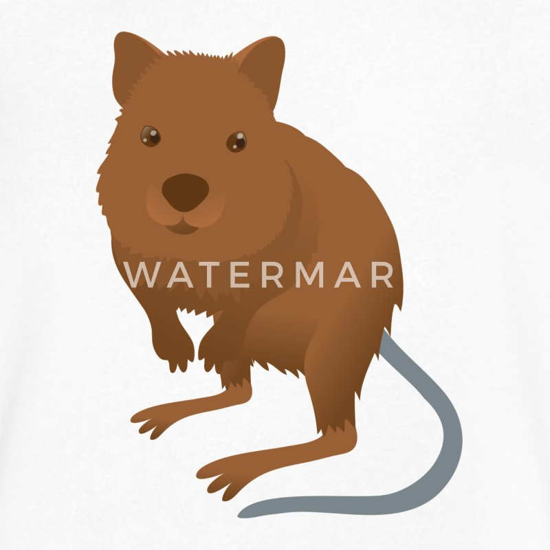 Quokka cute mammal from australian rottnest PERTH T-Shirts - Men's V-Neck T-Shirt by Canvas