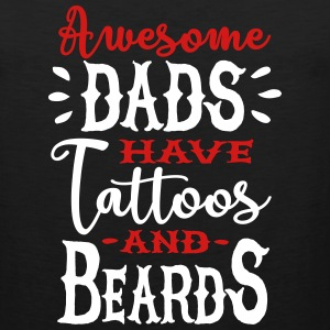 Awesome dads have tattoos and beards 2 clr Sportswear - Men's Premium Tank