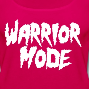 warrior mode white Tanks - Women's Premium Tank Top