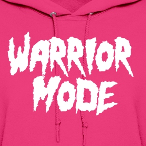warrior mode white Hoodies - Women's Hoodie
