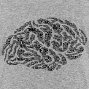 Think typography brain Kids' Shirts - Kids' Premium T-Shirt