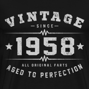 Vintage 1958 Aged To Perfection T-Shirts - Men's Premium T-Shirt