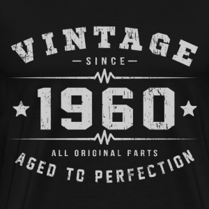Vintage 1960 Aged To Perfection T-Shirts - Men's Premium T-Shirt