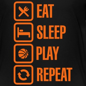 Eat Sleep Basketball Repeat Baby & Toddler Shirts - Toddler Premium T-Shirt
