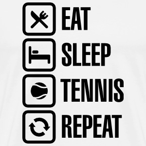 Eat Sleep Tennis Repeat T-Shirts - Men's Premium T-Shirt