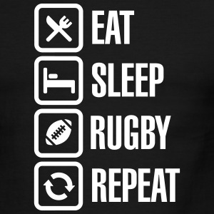 Eat Sleep Rugby  Repeat T-Shirts - Men's Ringer T-Shirt