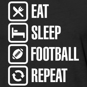 Eat Sleep  American Football Repeat T-Shirts - Fitted Cotton/Poly T-Shirt by Next Level