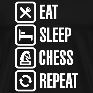 Eat Sleep Chess Repeat T-Shirts - Men's Premium T-Shirt