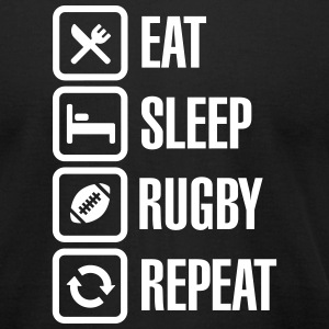 Eat Sleep Rugby  Repeat T-Shirts - Men's T-Shirt by American Apparel