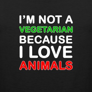 I'm not a vegetarian - Men's Premium Tank