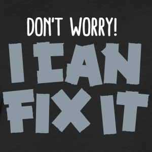 Don't worry! I can fix it - Duct tape T-Shirts - Fitted Cotton/Poly T-Shirt by Next Level