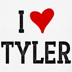 I Love Tyler - Fitted Cotton/Poly T-Shirt by Next Level