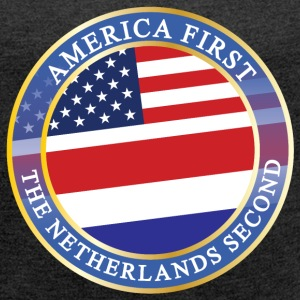 AMERICA FIRST THE NETHERLANDS SECOND T-Shirts - Women´s Roll Cuff T-Shirt