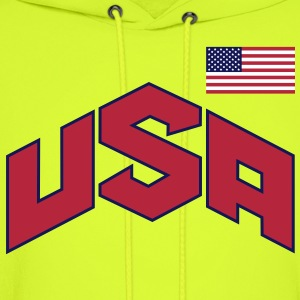 USA SPECIAL SIGN & FLAG - Men's Hoodie