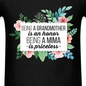 Mima - Being a Grandmother is an honor being a Mim - Men's T-Shirt