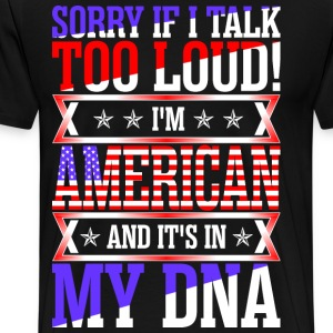 I Am American And Its In My DNA T-Shirts - Men's Premium T-Shirt
