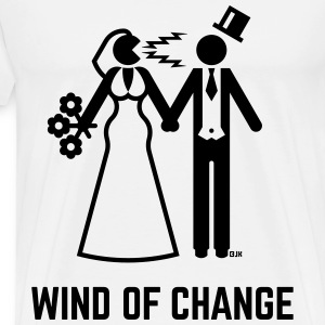 Wind Of Change (Stag Night, Bachelor Party, Groom) T-Shirts - Men's Premium T-Shirt