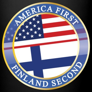 AMERICA FIRST FINLAND SECOND Mugs & Drinkware - Full Color Mug