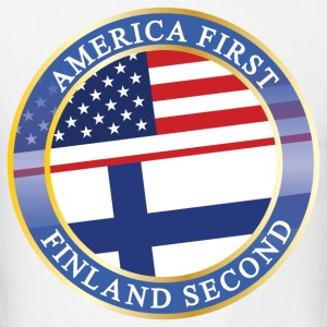 AMERICA FIRST FINLAND SECOND T-Shirts - Men's T-Shirt