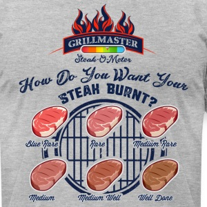 Steak-O-Meter - Men's T-Shirt by American Apparel