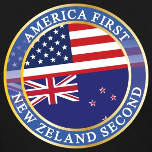 AMERICA FIRST NEW ZELAND SECOND T-Shirts - Women's T-Shirt