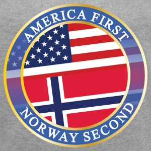 AMERICA FIRST NORWAY SECOND T-Shirts - Women´s Roll Cuff T-Shirt