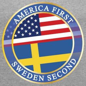 AMERICA FIRST SWEDEN SECOND T-Shirts - Women´s Roll Cuff T-Shirt