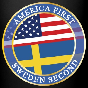 AMERICA FIRST SWEDEN SECOND Mugs & Drinkware - Full Color Mug
