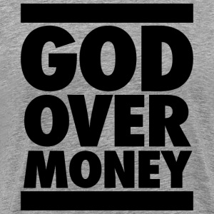 God Over Money T-Shirts - Men's Premium T-Shirt