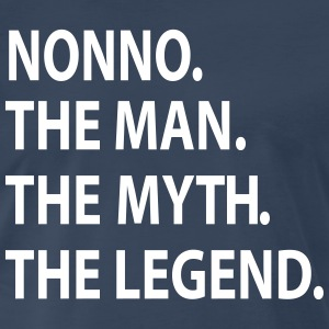 NONNO the man the myth the legend  T-Shirts - Men's Premium T-Shirt