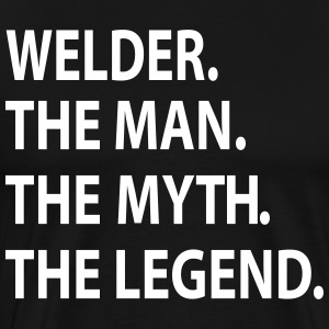 WELDER the man the myth the legend T-Shirts - Men's Premium T-Shirt