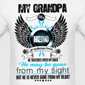My Grandpa My Hero My Guardian Angel Watches Over T-Shirts - Men's T-Shirt