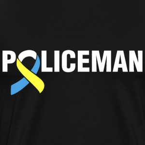 Down Syndrome Policeman T-Shirts - Men's Premium T-Shirt