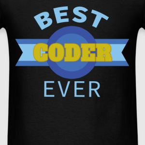 Coder - Best coder ever - Men's T-Shirt
