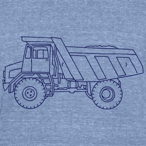 Dump truck or semitrailer T-Shirts - Unisex Tri-Blend T-Shirt by American Apparel