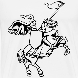 Knight on a horse - Men's Premium T-Shirt