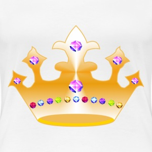 crown with diamonds - Women's Premium T-Shirt