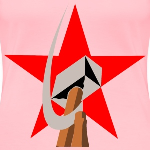 hammer and sickle in star - Women's Premium T-Shirt
