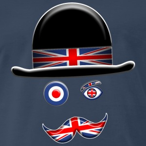 Brit Flag Face. - Men's Premium T-Shirt